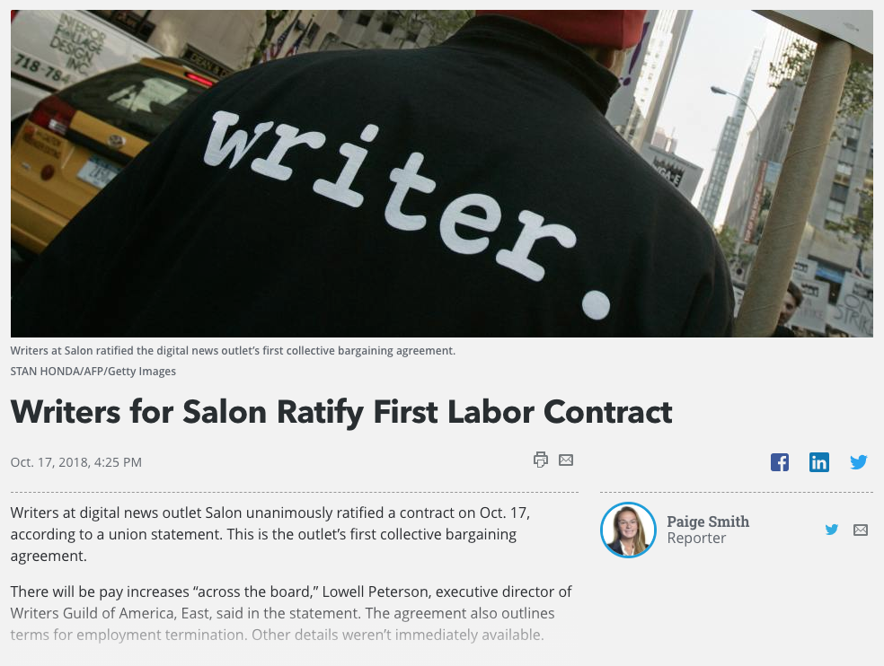 Salon ratifies first contract