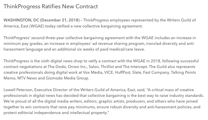 ThinkProgress ratifies second contract