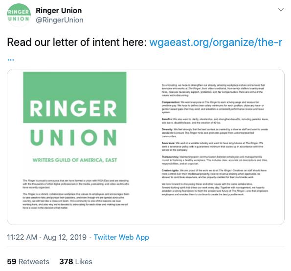 The Ringer goes public