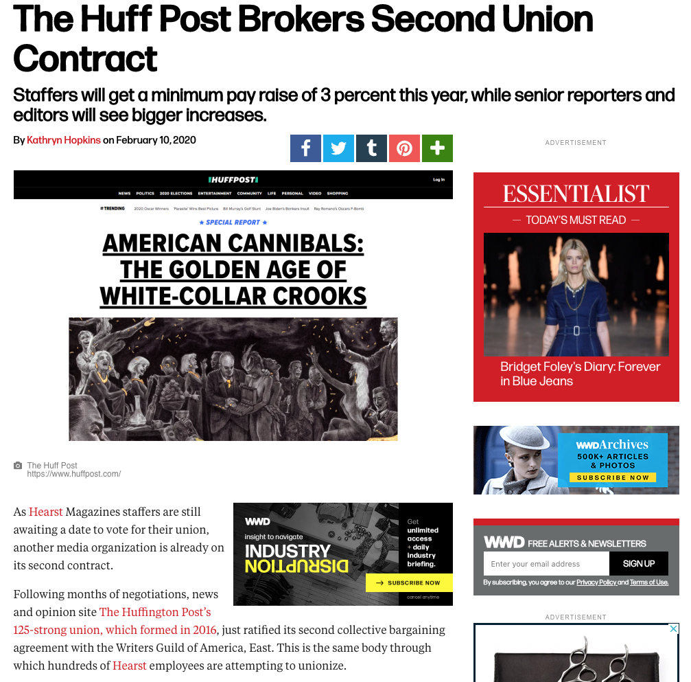 Huffpost ratifies second contract