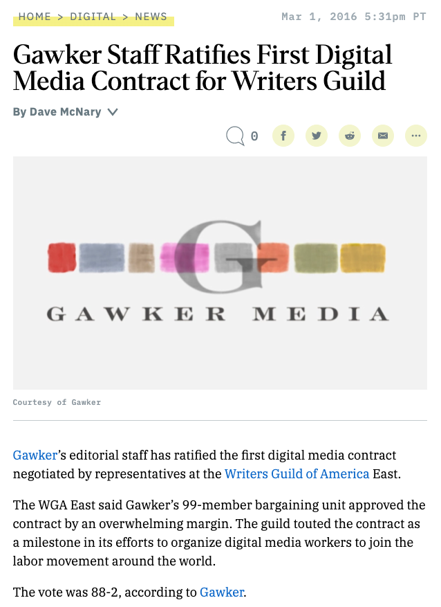 Gawker ratifies first contract